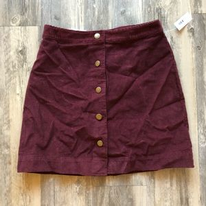 NWT Old Navy Button Up High Waist Corduroy Skirt